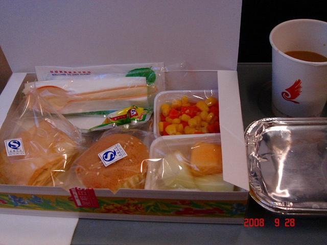 海南航空の機内食